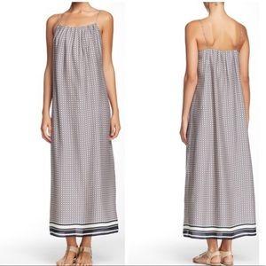 Vince Silk Border Maxi Dress Small
